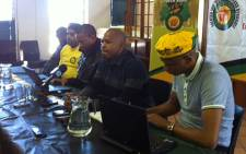 The Dullar Omar branch of the ANC Youth League addresses the media on 8 August 2012. Picture: Carmel Loggenberg