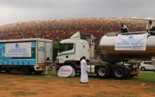 OperationHydrate brought Johannesburg to a stand still as 30 trucks carrying around 1,5 million litres of water departed to drought-stricken areas in three provinces.  Picture: Christa Eybers/EWN