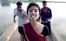 A screengrab picture of Sofia Ashraf in her video about Unilever's environmental damage in India.