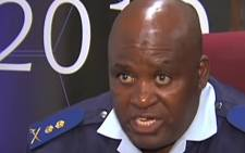 YouTube screengrab of head of the Hawks Major General Berning Ntlemeza.