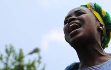 Wits University SRC president-elect Nompendulo Mkatshwa shouts during a third day of protests on campus over proposed tuition fee increases. Picture: Reinart Toerien/EWN