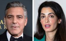 FILE: George and Amal Clooney. Picture: AFP.