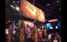 A display of some of the outfits worn by actors in the movie 'Black Panther'. Picture: Facebook