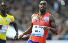 """Tyson Gay of the US won the men's 100 m during the Diamond League Athletics meeting """"Athletissima"""" in this July 4, 2013 file photo in Lausanne. American sprinter Tyson Gay has tested positive for a banned substance it was announced July 14, 2013 and has pulled out of next month's World Championships. Gay, the second fastest man over 100m, said he was notified by the US Anti-Doping Agency (USADA) on Friday that his A sample from an out-of-competition test in May had returned a positive. AFP PHOTO"""