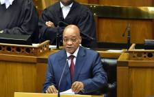 President Jacob Zuma delivering his 2015 State of the Nation Address. Picture: GCIS.