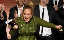 Recording artist Adele accepts the Album of The Year award for '25' onstage during The 59th Grammy Awards at Staples Center on February 12, 2017 in Los Angeles, California. Picture: AFP