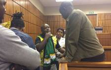 FILE: Convicted murderer Patrick Wisani (R) pictured in court on 22 November 2016. Picture: Mmatshepo Chiloane/EWN.