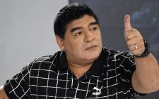 FILE: Former Argentina football player Diego Maradona. Picture: AFP.