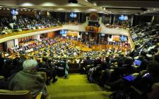 Julius Malema made a dramatic debut in Parliament by arguing with the National Assembly chairperson. Picture: GCIS.