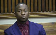 Khuli Chana appeared briefly in the Randburg Magistrates Court on 10 September 2014 before all charges against the two police officers accused of shooting the musician were dropped. Picture: Reinart Toerien/EWN.