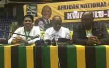 ANC provincial coordinator Sihle Zikalala addressing the media. Picture: Ziyanda Ngcobo/EWN.
