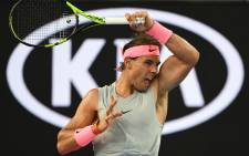 Rafael Nadal during the fourth round of the Australian Open on 19 January 2018. Picture: @AustralianOpen