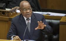 FILE: President Jacob Zuma in Parliament in Cape Town. Picture: AFP.