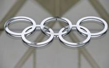 The Olympic logo in the building of the IOC headquarters in Lausanne on May 8, 2012. Picture: AFP