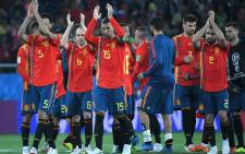 Spain's players acknowledge the crowd at the end of the Russia 2018 World Cup Group B football match between Spain and Morocco at the Kaliningrad Stadium in Kaliningrad on 25 June, 2018. Picture: AFP.