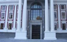 The entrance to the National Assembly at Parliament