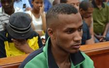 Johannes Kana on the day his found guilty of the rape and murder of Anene Booysen in the Swellendam Circuit Court.
