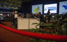 Election officials working on the main floor at the IEC National Results Centre on 3 August 2016. Picture: Reinart Toerien/EWN.