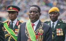 New interim Zimbabwean President Emmerson Mnangagwa looks on after he was officially sworn-in during a ceremony in Harare on 24 November 2017. Picture: AFP
