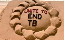 Sand art at Puri Beach in India to mark World TB Day. Picture: @sudarsansand/Twitter.