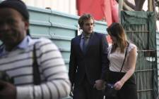 Henri Van Breda and his girlfriend Danielle Janse Van Rensburg at court. Picture: Cindy Archillies/EWN