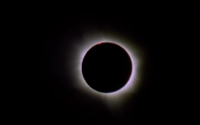 Screengrab of the total eclipse captured in a video by NASA.