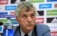 This file photo taken on July 21, 2016 shows President of the Spanish football federation, Angel Maria Villar, attending a press conference in Madrid. Picture: AFP.