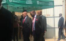 President Jacob Zuma arriving at the Kgosi Mampuru Prison for the 40th anniversary of Steve Biko's death. Picture: Clement Manyathela/EWN.