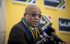 Caption: President Jacob Zuma addressed a group of South African Ministers and private sector parties at the World Economic Forum in Davos, Switzerland on 21 January 2016. Picture: Reinart Toerien/EWN.