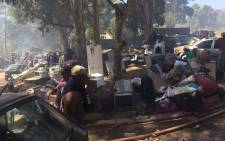 The City of Cape Town says at least 650 structures have been destroyed in a fire in Imizamo Yethu near Hout Bay. Picture: Monique Mortlock/EWN.
