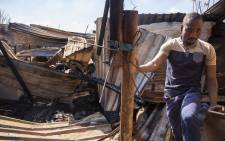 Three young children were killed in Bekkersdal in a shack fire. Picture: Ihsaan Haffejee/EWN