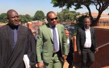 Former deputy Higher Education Minister Mduduzi Manana arrives at the Randburg magistrates court on 8 November 2017. Picture: Christa Eybers/EWN