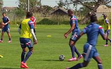 Members of Ajax Cape Town practice during the week before their Premier League clash with Kaizer Chiefs.