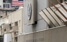 A picture shows the exterior of the US embassy in Tel Aviv on 6 December 2017. Picture: AFP.