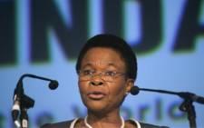 FILE: Susan Shabangu. Picture: AFP.