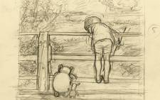 The Winnie-the-Pooh sketch by EH Shepard. Picture: Supplied.