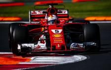 A Ferrari F1 machine in action during a race. Picture: @ScuderiaFerrari/Twitter