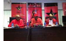 The SACP and Cosatu in Gauteng is briefing the media on political developments in the province. The briefing is following a meeting the two had on Sunday 10 June 2018. Picture: Qaanitah Hunter/EWN