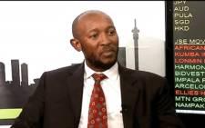 FILE: A YouTube screengrab of suspended Denel CFO Odwa Mhlwana.