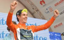 Mitchelton-SCOTT rider Daryl Impey of South Africa celebrates overall victory in the 2018 Tour Down Under on 21 January 2018. Picture: AFP