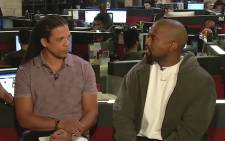 A screengrab of Kanye West being interviewed. Picture: CNN