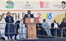 President Cyril Ramaphosa addresses the #YouthDay2018 commemoration in Soweto. Picture: GCIS.