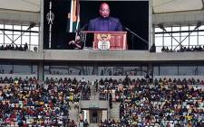 President Jacob Zuma addresses a full house at the Moses Mabhida Stadium in Durban, 21 March 2016. Picture: @PresidencyZA