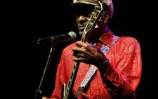 US Rock and Roll legend Chuck Berry, performs in a concert held in Santa Cruz de Tenerife on 28 March 2008. AFP