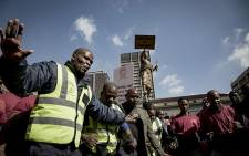 FILE: Security guards march to the community safety MEC's offices in Johannesburg. Picture: Sthembiso Zulu/EWN.
