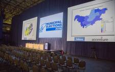 The boards where voting tallies will be displayed at the IEC National Results Centre in Pretoria on 3 August 2016. Picture: Reinart Toerien/EWN