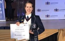 Marle Grabe, Gauteng's top matriculant for 2016. Picture: @GautengProvince/Twitter