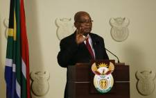 Jacob Zuma addressed the nation at the Union Buildings on 14 February 2018, saying that he resigned 'with immediate effect' as President of South Africa. Picture: AFP