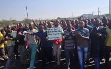 Amplats miners during a wage protest in 2012. Picture: EWN.
