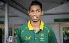 Men's 400m World record holder and Olympic champion Wayde Van Niekerk stands outside the Olympic village in Rio de Janeiro on 15 August 2016 after an interview with EWN. Picture: Reinart Toerien/EWN.